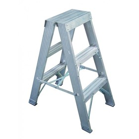 Aluminium Double Sided Step Ladder 120 kg 4ft 1.2m | CLIMBMAX