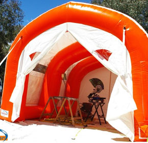 Inflatable Workshop Shelter | Portable Blasting Shelter | EzY 4030