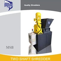 Commercial Tin Cans Two Shaft Shredder MSB-E300