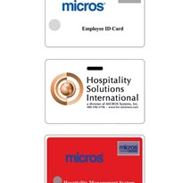 Micros Programmable ID Cards