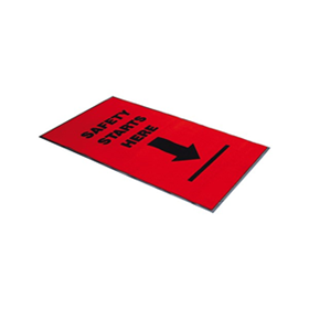 Safety Message Entrance Mats