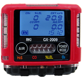 GX-2009 Gas Monitor for Confined Spaces - 4 Gas