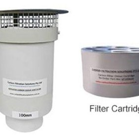 Activated Carbon Odour Vent Filter | 100mm