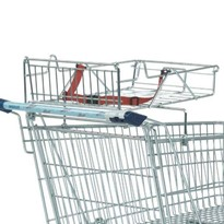 Shopping trolley with tray for BabySafe