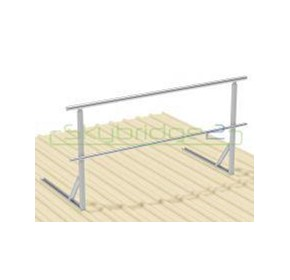 Skybridge2 Aluminium Handrail | Fixed to Metal Roof MW820.01