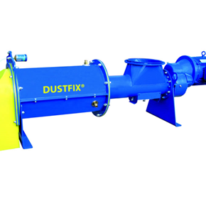 Industrial slag dust conditioning using DUSTFIX