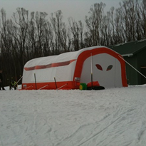 Ezy Shelter for manufactured snow