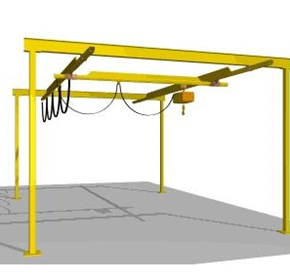 Light Capacity Low Friction Track Cranes | Millsom Materials Handling