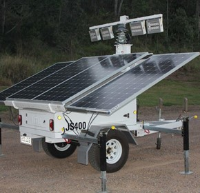 Solar Lighting Tower Trailers