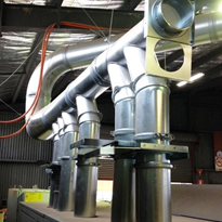 Melbourne timber processor uses Ezi-Duct to a new 6 head timber molder