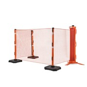 Portable barrier system offers safety, efficiency and reusablity