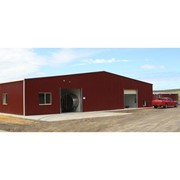 21m Span Rotary Dairy Shed with Roller Doors