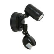 Secure 1 Light LED Colour Switch Flood Light With Sensor in Black