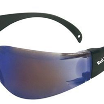 Red Belly Safety Glasses | Blue Mirror