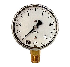 63mm Low Pressure Gauges available from stock