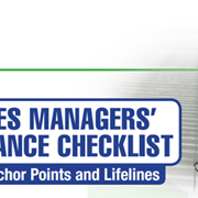Height safety compliance checklist for anchor points and lifelines