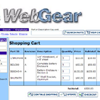 M1 Webgear Customer Interface