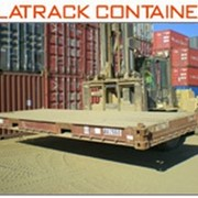 Container Flat Rack - Bolsters Container