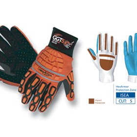 HexArmor Safety Gloves - GGT5 MUD - 4021