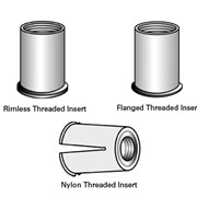 Threaded Inserts in Stainless, Aluminium & Nylon