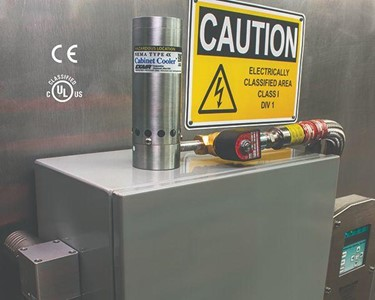 Hazardous Location Cabinet Cooler Systems are for use with classified enclosure purge and pressurisation systems.