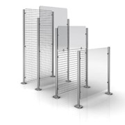 Classic Wire & Glass Partition