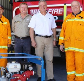 Gorman-Rupp donates Pumps to Australian Fire Stations