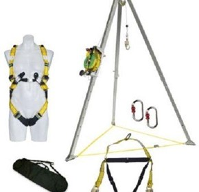 MSA Confined Space Kit w/ 20m Stainless Steel Cable Winch