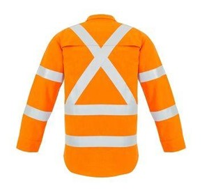 SYZMIK FIRE ARMOUR Mens Hi Vis Inherent Fire Retardant Shirt X BACK TA