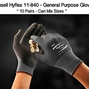 Ansell HyFlex 11- 840 General Purpose Glove Pack of 10