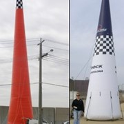 Compact Air Inflatable Towers & Pylons for Safety Lights