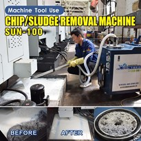Ajax Pneumatic Coolant Tank Chip & Sludge Remover