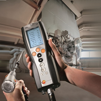 Testo 340 gas analyser is ideal for industrial boiler maintenance