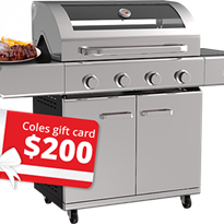 Win 1 of 4 BBQ's and a $200 Coles/Myer Voucher