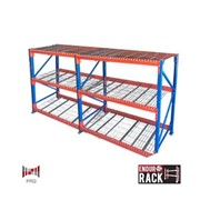 Longspan Shelving – 2 bays of 3 shelf levels with mesh panel shelving