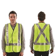 Fluro X Back Safety Vest - Day/Night Use