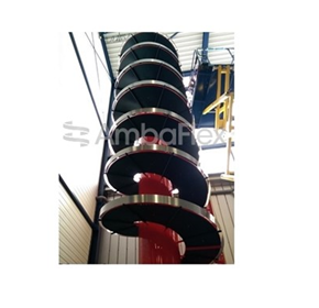 Spiral conveyor record at 165 meters!