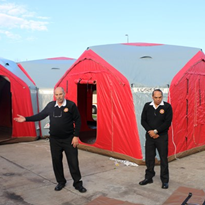 Rapidly deployable site offices for on the move industries