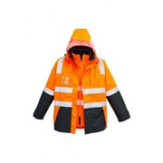 Waterproof Unisex Reflective Jacket ZJ532 Mens Hi Vis 4 in 1, ZJ380
