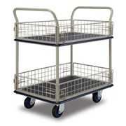 2 Tier Platform Trolley with Cage Sides | NF327