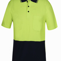 Hi Vis S/S Bamboo Back Polo