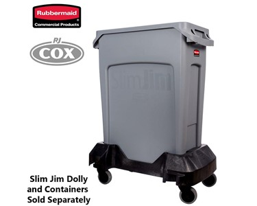 Rubbermaid Slim Jim Dolley and Container Sold Separately