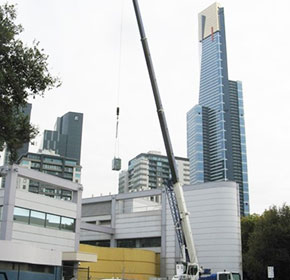 City high rise installation