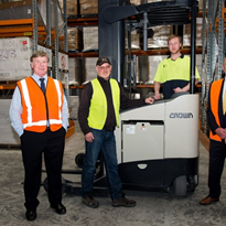 Crown helps ACT Mailing House boost storage by up to 35%
