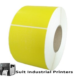 102MM X 150MM Direct Thermal Yellow Labels LD102150Y-4