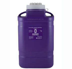 Clinical Sharps Disposal Container for Cytotoxic Waste