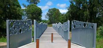 Award winning Toogoolawah Pedestrian Bridge