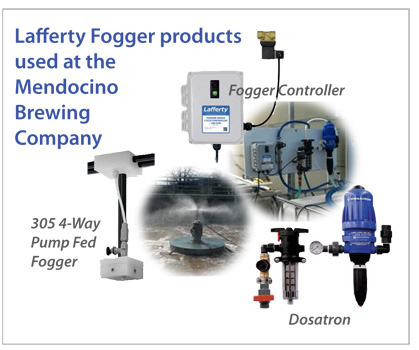 Fogger system used to eliminate bad smells at brewery