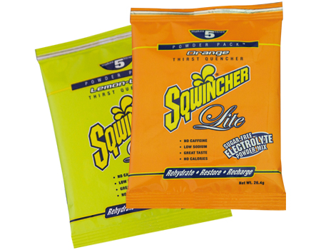 Electrolyte replacement beverages such as Squincher prevent or reduce the severity of heat stress disorders.