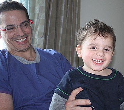 Massimo Damiani, 3, with his dad Stephen...Massimo's genome has been analysed to help better understand leukodystrophy.